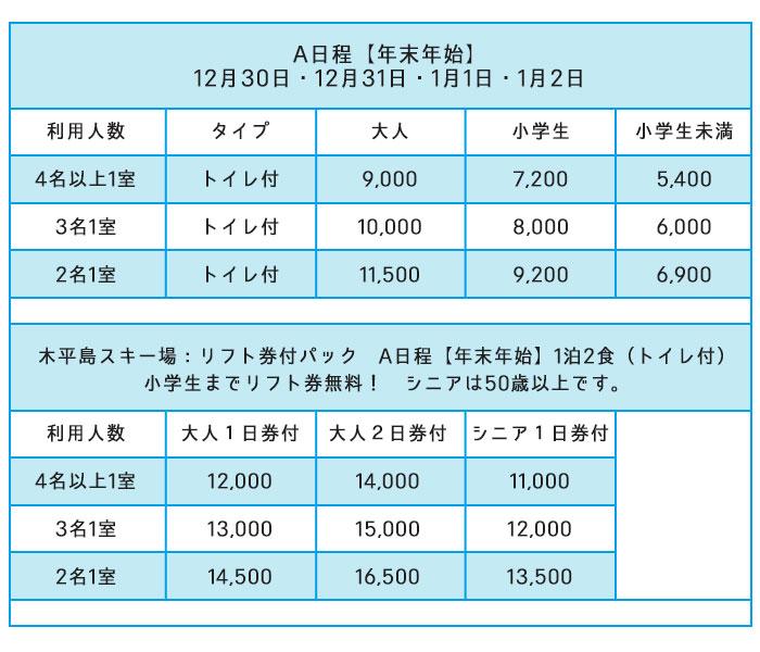 リフト価格表A日程